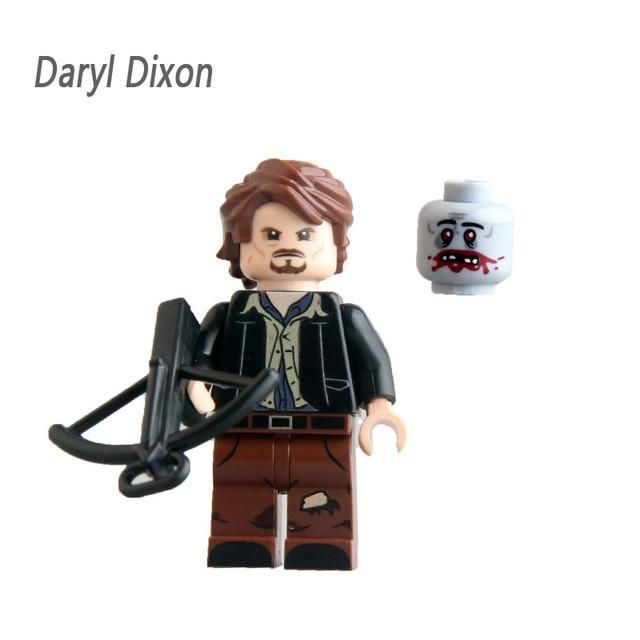 Rick Grimes Daryl The Walking Dead Michonne Mini toys Movies Figures legoing Collection Building Blocks Best Children Gift Toy