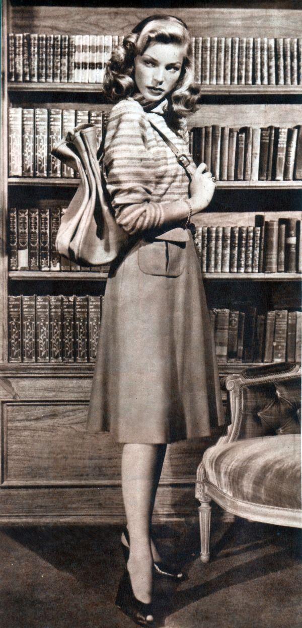 Lauren Bacall, 1947.