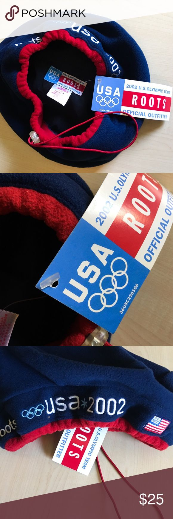 NWT 2002 USA Olympic Team Beret Hat USA 2002 Olympic Team Roots  Official Outfitter  In immaculate condition!  New with Tags / Made in Canada  Salt Lake 2002 Winter Olympic Games Material: 100% Polyester   -K- Vintage Accessories Hats
