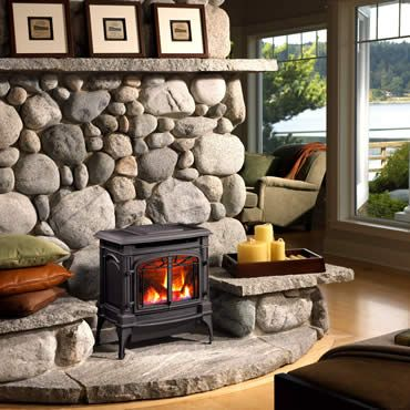 gas fireplace...living room or kitchen.  can't decide.