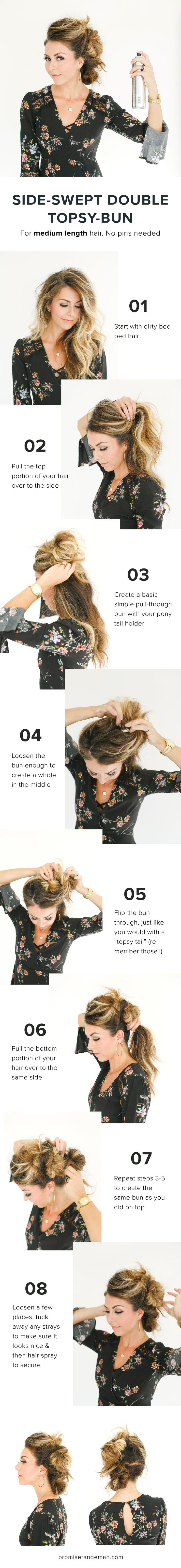 Easy up do for medium length hair