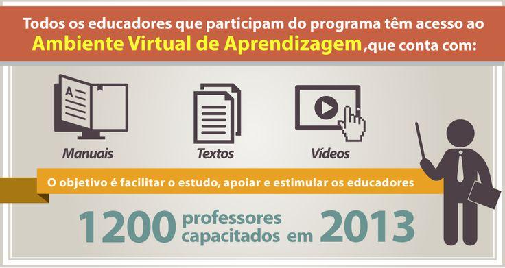 Infográfico sobre o Ambiente Virtual de Aprendizagem que todo educador que participa do programa tem acesso