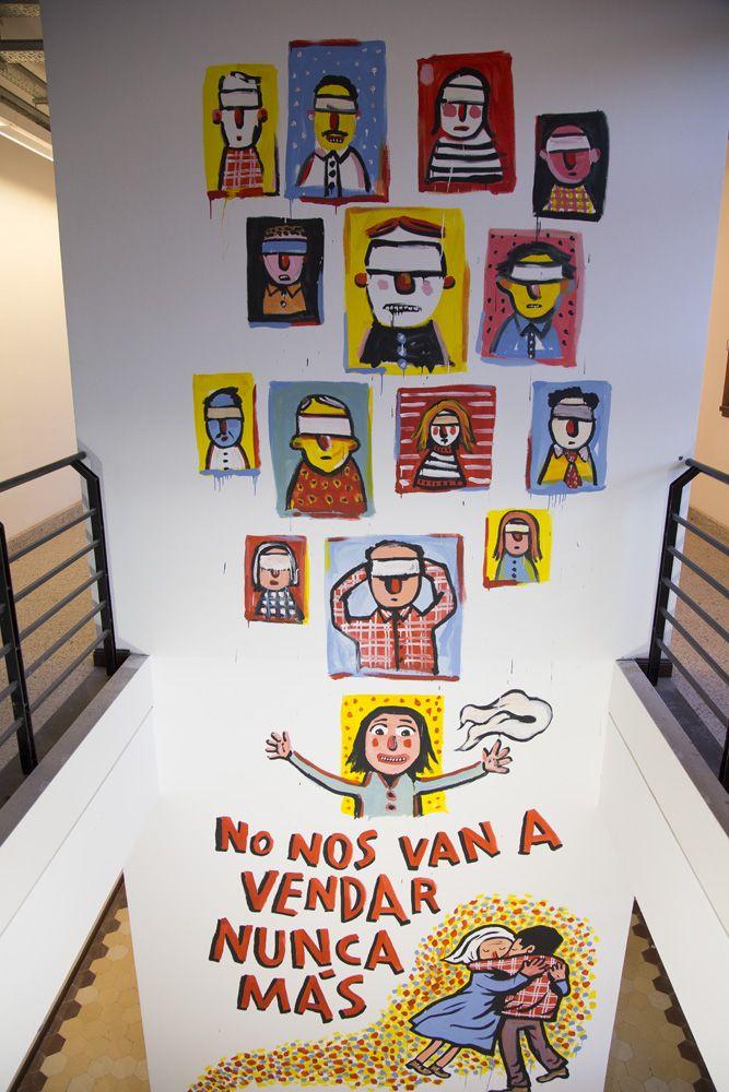 Mural de Ricardo Siri, en Espacio Memoria y Derechos Humanos (ex ESMA), BsAs, Argentina