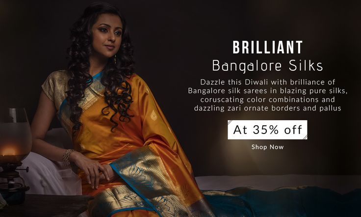 Made from silk that is embodiment of purity and virtue, there is only one thing that's adulterated in this season's #Bangaloresilksarees collection – its price! Grab them at 35% Less!