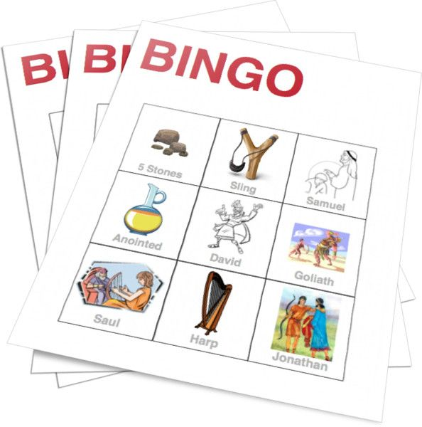 King David Bingo Game for Kids Church.