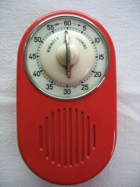 Kienzle Signal Wall Mount Kitchen Timer Tomato Red And Ivory Rare With  Original Box And Instructions Made In Germany