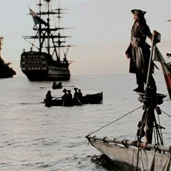 I knew I was in love with this movie once Jack swaggered onto the dock from his sunken boat.