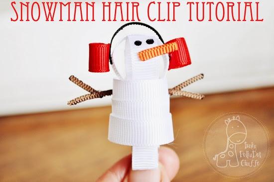 Snowman Hair Clip #DIY #tutorial