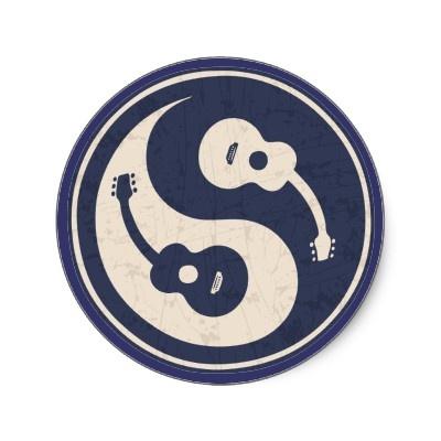Guitar Yang -blue Stickers