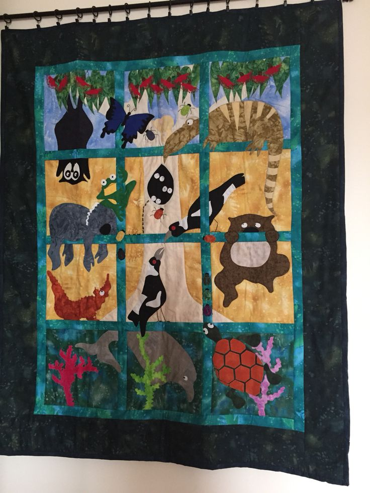 This quilt is called Aussie Creatures......great and small (millamac). Finished October 2015.