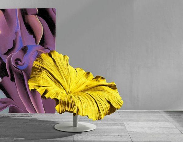 Kreative Designer Stühle Gelbe Blume