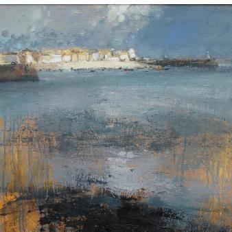 Adrian Parnell 'St Ives Light Effect' oil on board, framed