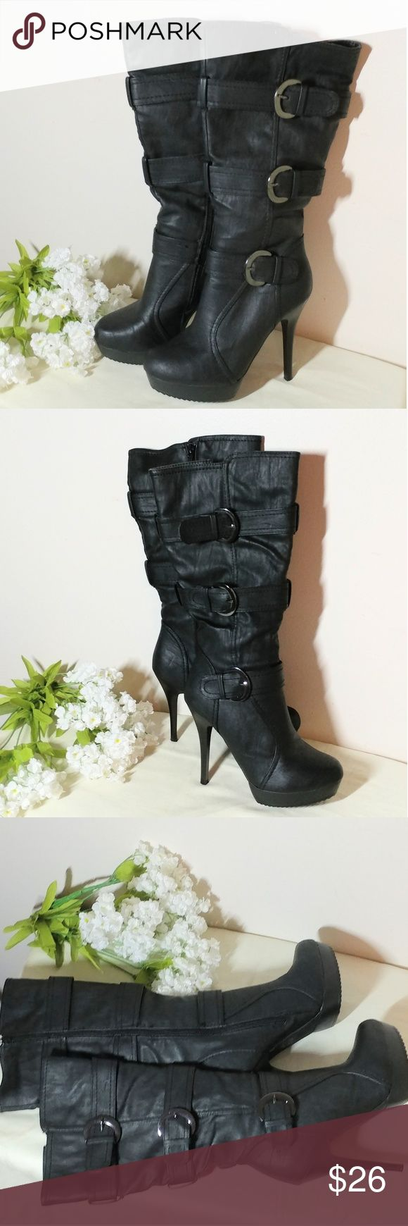 "Charlotte Russe Boots Charlotte Russe Boots - These Boots are in Excellent Condition with A Heel Size of 5"" and Boot Height of 10 Inches B#8 Charlotte Russe Shoes Heeled Boots"