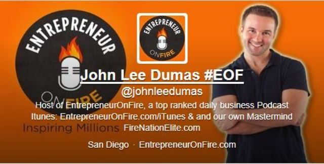EOF~ Entrepreneur ON FIRE! ~ John Lee Dumas is Awesome! Fantastic podcast & resource center for newbies & veterans! Provides valuable insights and advice from entrepreneurs who have already failed, already had AHA moments, already built successful businesses, and who are willing to bare all for the benefit of others learning from their mistakes and their triumphs.