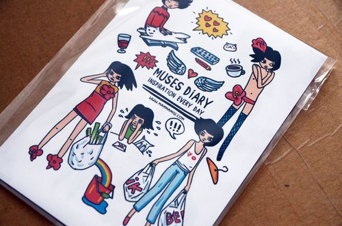 """Sticker set """"Muses diary - Inspiration Every Day"""""""