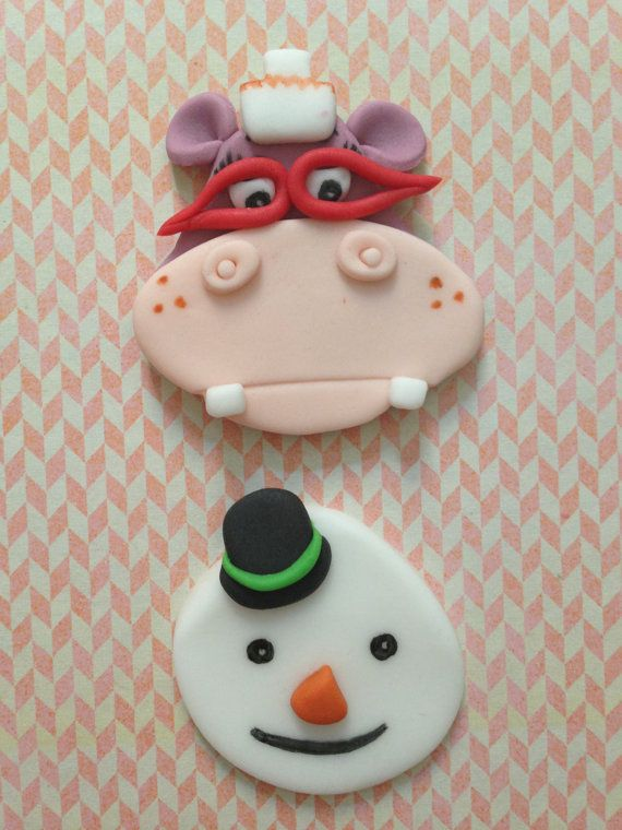 Doc mcstuffins Inspired Fondant Cupcake by creativedibles on Etsy