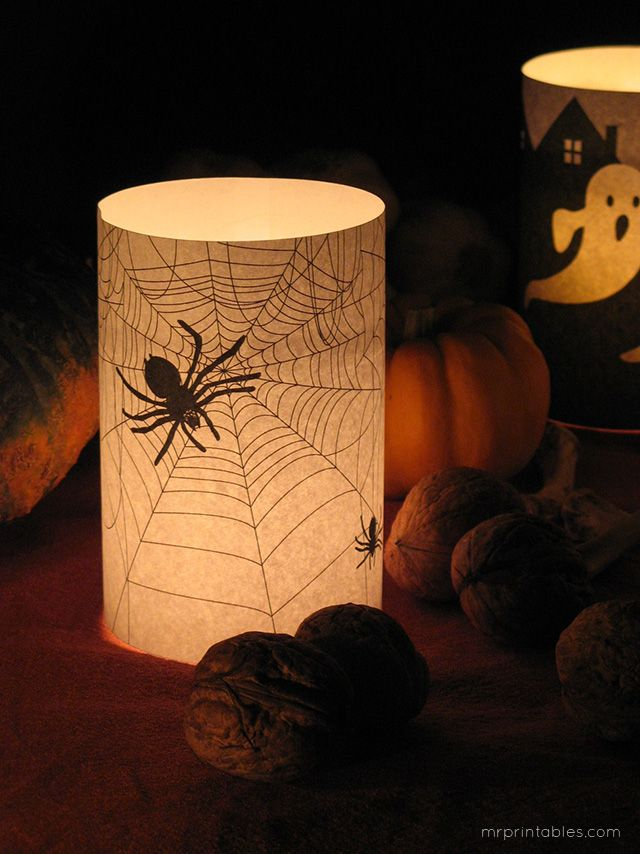 free printable halloween decorations spooky candle wrappers mr printables