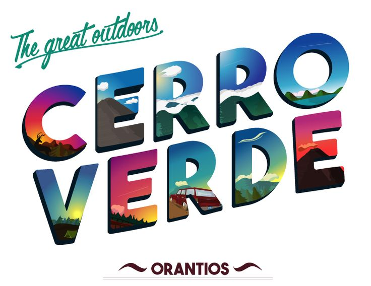Diseño Vectorial para la APP de Snapchat, Filtro El Salvador, Parque Nacional Cerro verde. #Orantios