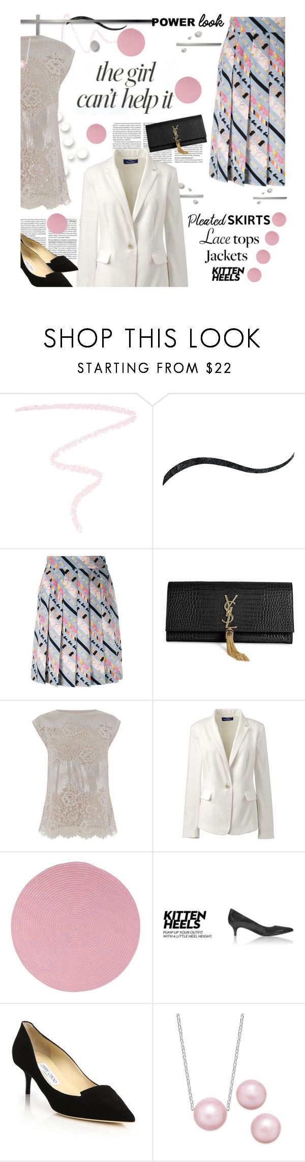 """""""Oops, Missed the Contest, but My Power Look is Real!"""" by lavendergal ❤ liked on Polyvore featuring Marc Jacobs, Stila, Jennifer Lopez, Yves Saint Laurent, Oasis, Lands' End, Colonial Mills and Jimmy Choo"""