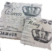 Crown King and Queen Wall Plaques, done with a image transfer technique