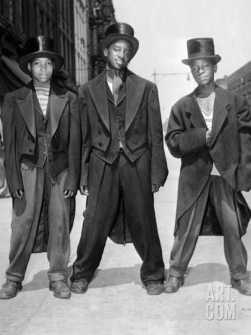 The African American Teenagers with Tuxedos and Top Hats During the August 1943 Riots in Harlem Photographic Print at Art.com