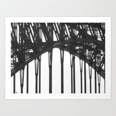 06+Black+&+White+Sydney+Harbour+Bridge+Art+Print+by+Mysterious+Ways+-+$15.00