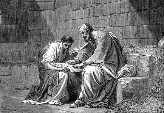 Paul the Apostle, Saint: Paul the Apostle in prison, writing his epistle to the Ephesians [Credit: © Photos.com/Jupiterimages]