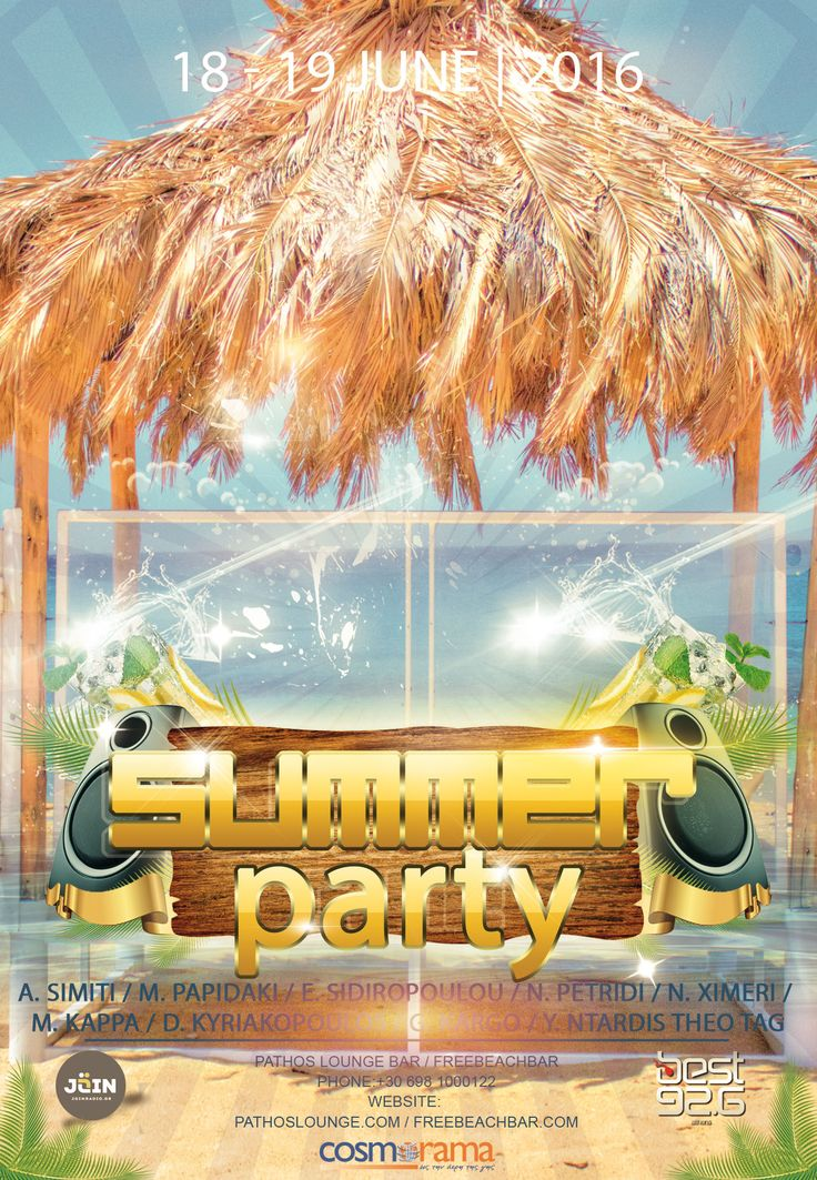 Summer Party on Ios Island 2016 June 18 - June 19 Reservations: +30 698 1000122