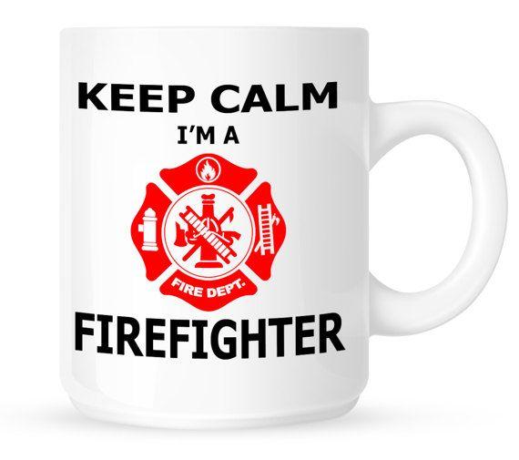 Keep Calm I'm A Firefighter - Coffee Mugs by BadassPrinting.com