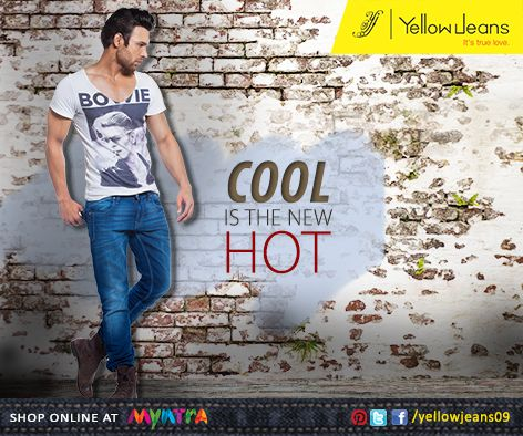 Bring out the coolness in you by donning this super-trendy pair of Yellow Jeans.  Team it up with a white tee or crisp shirt, and canvas sneakers for a cool casual look... #itstruelove  Buy it online http://bit.ly/yellowjeans09