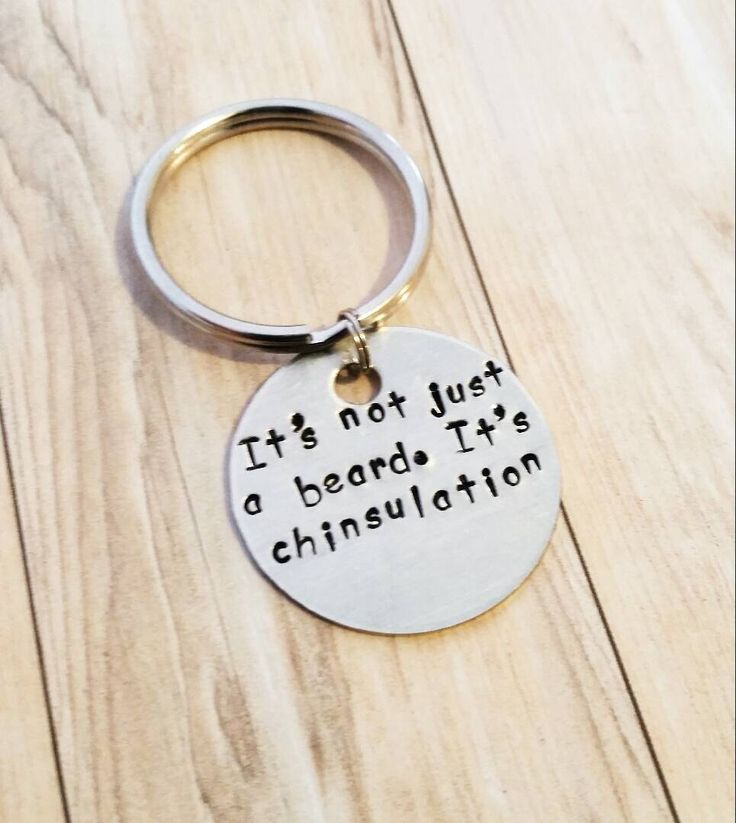 Beard keychain it's not just a beard it's chinsulation funny beard gift brother gift husband gift gifts for men gag gift beard lover by Ohsocharmingbracelet on Etsy https://www.etsy.com/ca/listing/268441997/beard-keychain-its-not-just-a-beard-its