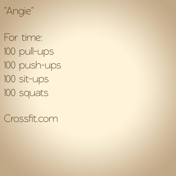 WOD Angie Crossfit: So stupid proud of myself for completeing this at my very first day of CF!!! Time of 26 minutes!!