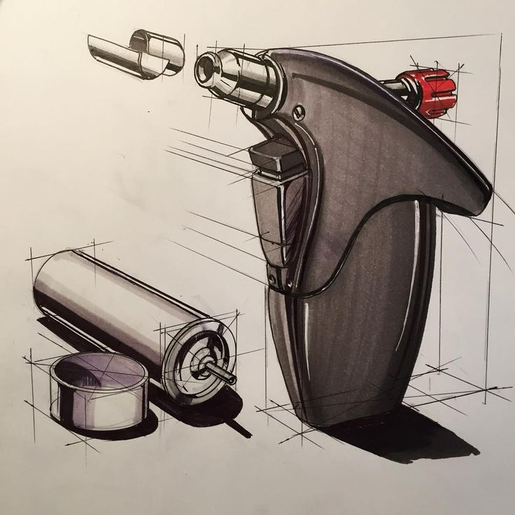 Flame gun sketch from a while ago #latergram #sketch #sketching #idsketch…