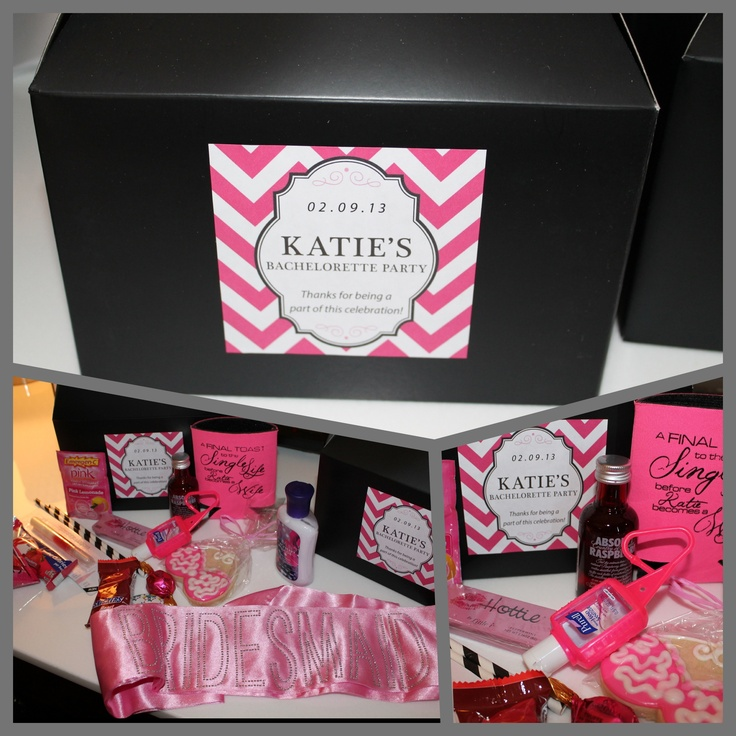 Bachelorette welcome boxes!