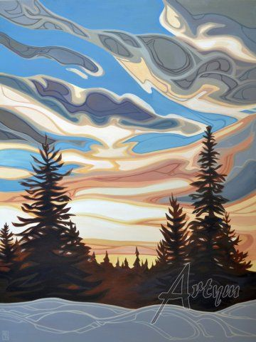 Beyond the Trees | Erica Hawkes | The Artym Gallery