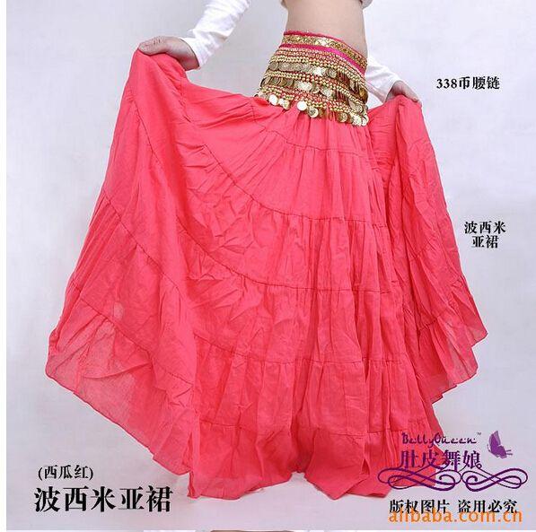 Богемный юбка этнический танцоры танец юбка пресс танец цыганский пресс танец большие юбка костюм юбка сплошной 14 цветов