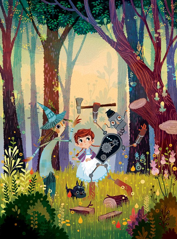 Wizard of Oz illustrations by Lorena Alvarez Gómez. Great colors