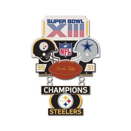 Super Bowl XIII (13) Steelers vs. Cowboys Champion Lapel Pin