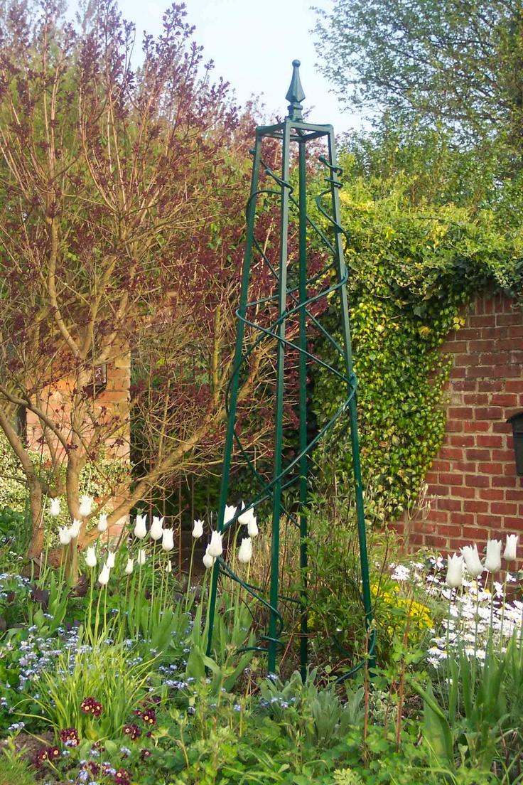 Obelisks Garden trellis, Obelisk trellis, Indoor planters