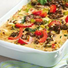 Lövbiffsgratäng smakar mums med pasta till.
