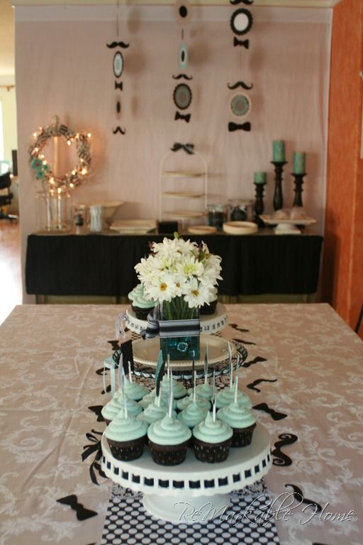 Love this for a baby shower. Over mustaches, but the bow ties and color scheme are awesome!