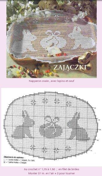 Filet Crochet Easter Doily
