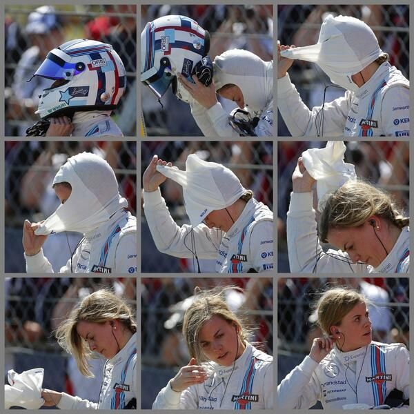 Such a shame she didn't get more running but sure we'll be seeing a lot more of @Susie_Wolff in F1. #BritishGP