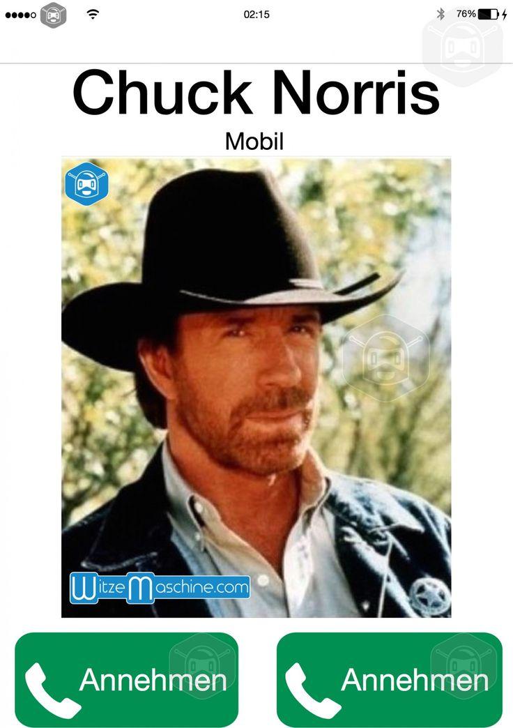 Chuck Norris Witze - Du kannst nur annehmen bei seinem Anruf