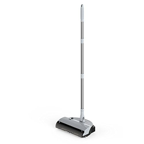 Finether 3 in 1 Household Cordless Rechargeable Floor and Carpet Sweeper with Brush & Dustpan, 360 Degree Swivel Stainless-Steel Length-Adjustable Handle, Cleaning Machine Sweeping Tools, Grey #Finether #Household #Cordless #Rechargeable #Floor #Carpet #Sweeper #with #Brush #Dustpan, #Degree #Swivel #Stainless #Steel #Length #Adjustable #Handle, #Cleaning #Machine #Sweeping #Tools, #Grey