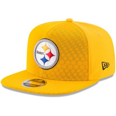 Men's New Era Gold Pittsburgh Steelers 2017 Color Rush Kickoff Reverse Team 9FIFTY Snapback Adjustable Hat