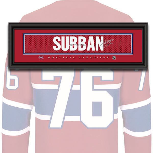 Montreal Canadiens - PK Subban - NHL Jersey Name Patch
