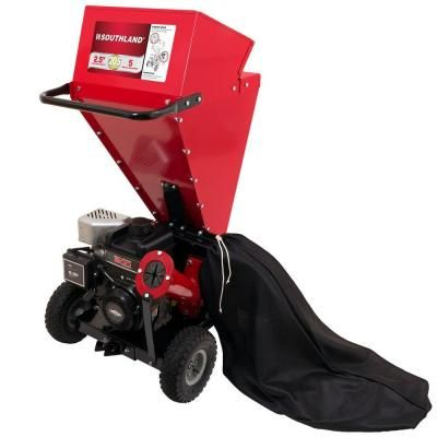 Southland 2.5 in. Briggs & Stratton 205cc Engine Gas Powered Chipper Shredder-SCS2052 - The Home Depot