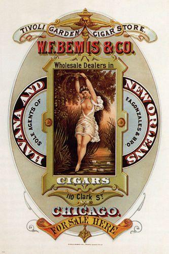 Cigars Vintage Ad Poster United States 1872 24X36 Memorabilia Prized Rare