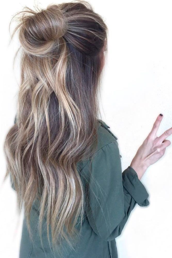 Soft blonde ombre.